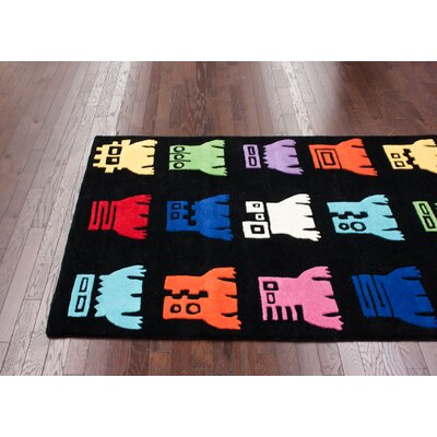 nuLOOM KinderLOOM Robot Black Kids Rug