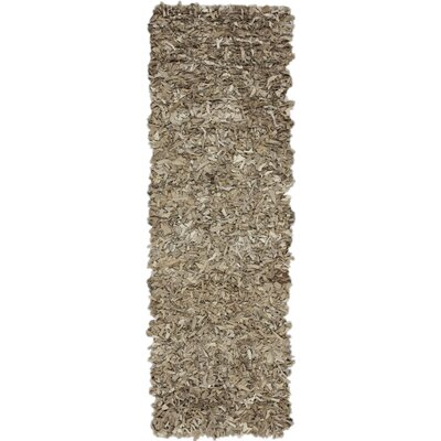 Leather Shag Beige Rug