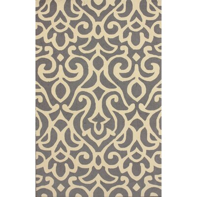 nuLOOM Chelsea Atlantic Damask Grey Rug