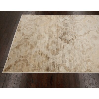 nuLOOM Flux Shag Natural Persian Tower Trellis Rug