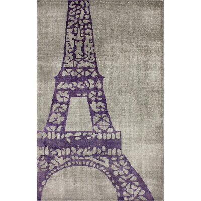 nuLOOM Ayers Dark Grey Eiffel Novelty Rug