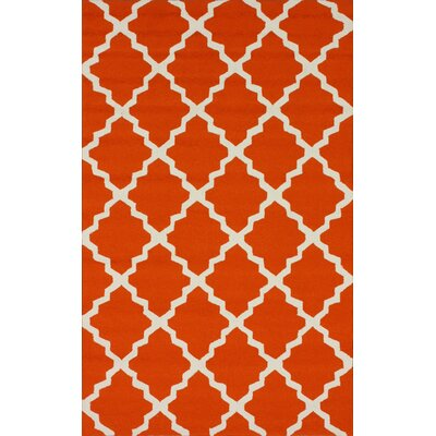 nuLOOM Homestead Orange Lannah Trellis Rug