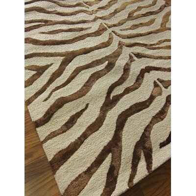 nuLOOM Earth Brown Radiant Zebra Rug