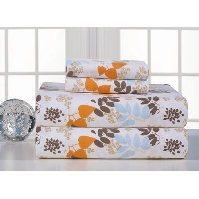 Heavy Weight Printed Flannel Sheet Set in Winter Breeze