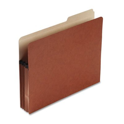 "Pendaflex® File Pocket w/Tab, 3-1/2"" Expansion, Letter Size, Drop Front, Red"