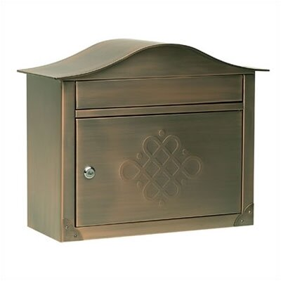 Architectural Mailboxes Hand Polished Peninsula Wall Mounted Mailbox