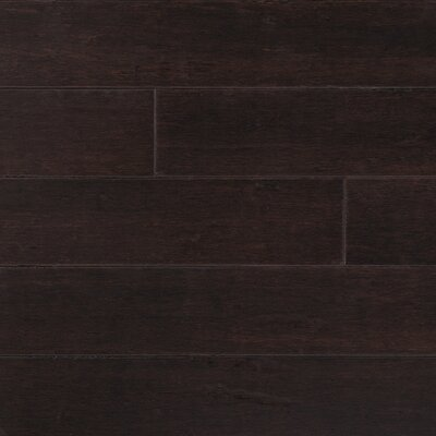 "Forest Valley Flooring Strand Woven 5"" Solid Bamboo Flooring in Python Brown"