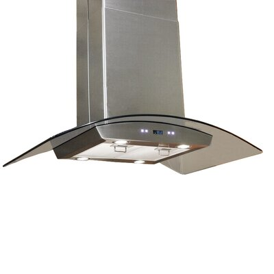 "Cavaliere Stainless Steel 36"" x 24"" Island Mount Range Hood with 900 CFM"