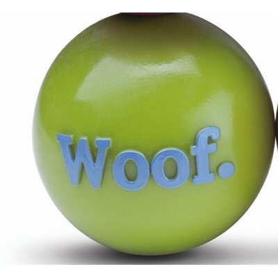 Orbee-Tuff Woof Ball Dog Toy in Green