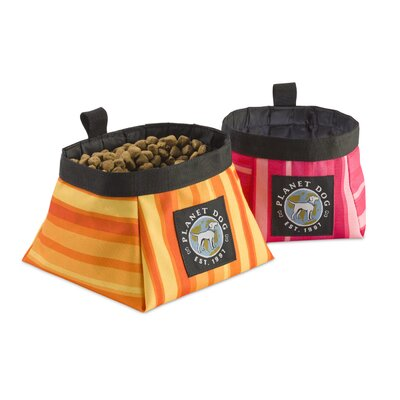 Planet Dog On The Go Food and Water Bowl in Forest Green