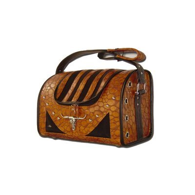 Faux Leather Handbag Pet Carrier in Light Brown