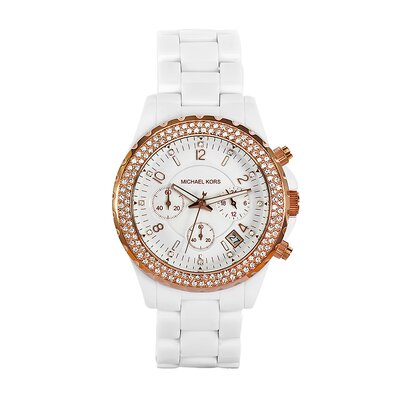 Michael Kors Women's White Acrylic Watch