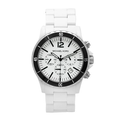 Michael Kors Men's White Acrylic Watch