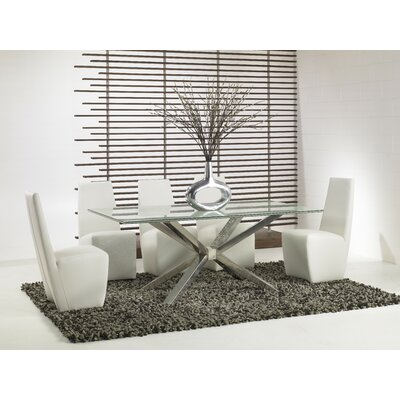 Mantis Dining Table with Crackle Glass