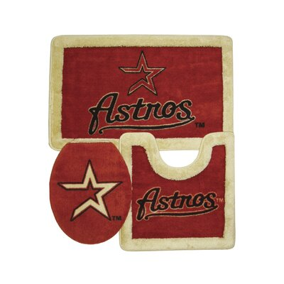 Championship Home Accessories Houston Astros 3 Piece Bath Rugs