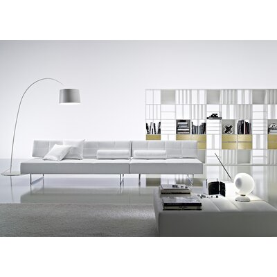 Ciacci Clark Two Seater Sofa in Bright Chrome