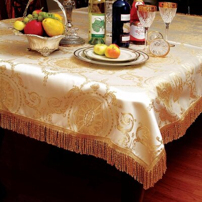 Violet Linen Prestige Damask Design Tablecloth