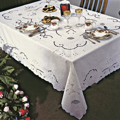Sapphire Embroidered Design Tablecloth