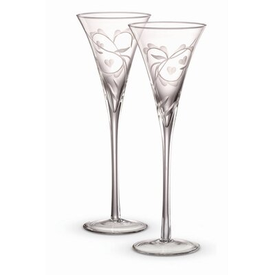 Marquis by Waterford Yours Truly Champagne Etched Flutes (Set of 2)