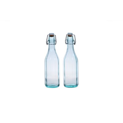 Global Amici Faceted Large Bottles (Set of 2)