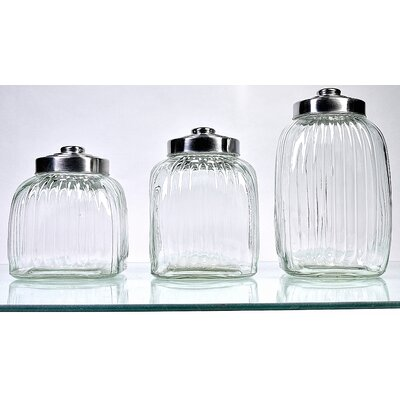 Global Amici Square Glass Canister (Set of 3)