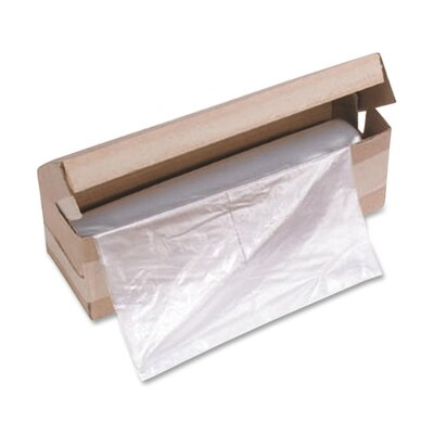 "HSM of America,LLC 58 Gallon Shredder Bags, f/HSM Models, 21""x17""x44"", 100BG/RL, Clear"