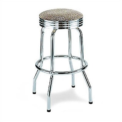 "GAR 29.5"" Ashley Barstool with Chrome Corrugated Ring"