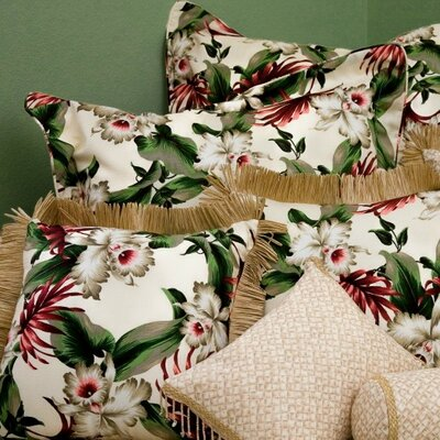 Hanalei Home Orchids Natural Tailored Sham
