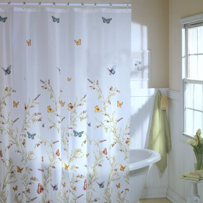 Maytex Garden Flight Vinyl Shower Curtain