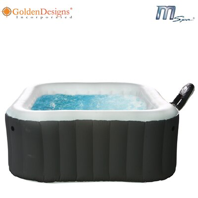 MSPA USA Square Inflatable Bubble Spa