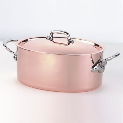 Mauviel M'heritage Cuprinox 7-qt. Stock Pot with Lid