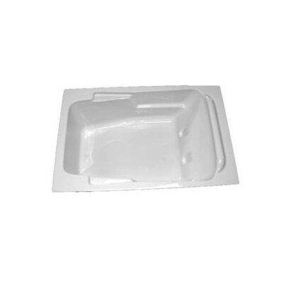 "American Acrylic 71.5"" x 48"" Whirlpool and Air Massage Arm-Rest Bath Tub"