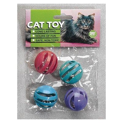 Ethical Pet Slotted Balls Cat Toy (4 Pack)
