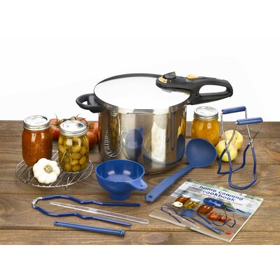 Fagor Duo 9 Piece Stainless Steel Pressure Canning Set