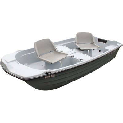 KL Industries Pro 9.4' Sun Dolphin Fishing Boat in Light Gray / Dark Gray