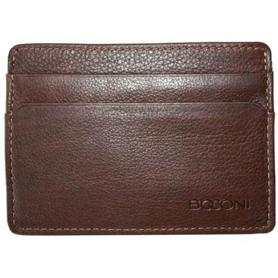 Hendrix Weekender ID Card Case in Oldwood Brown with Green Plaid