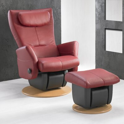 Dutailier 217 Cologne Glider with Open Base and Ottoman