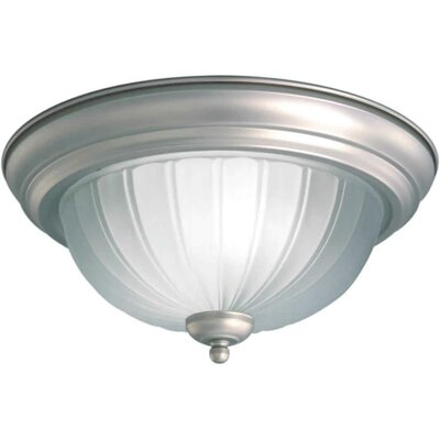 Forte Lighting 1 Light Flush Mount