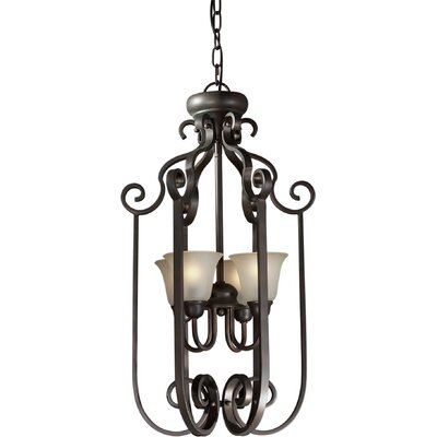 Forte Lighting 4 Light Foyer Pendant