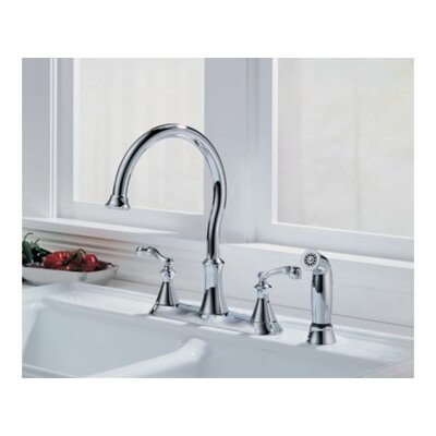 Vessona Two Handle Centerset Kitchen Faucet with Spray