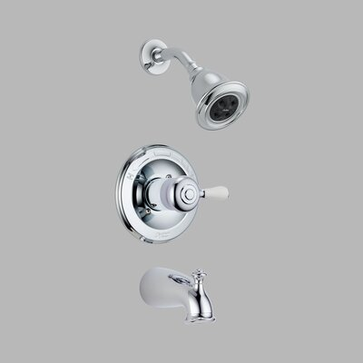 Delta Leland 14 series Less Handle Monitor Tub and Shower Trim in Chrome