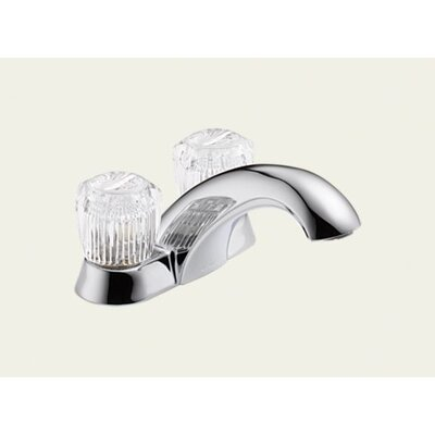 Delta Classic Centerset Bathroom Faucet with Double Knob Handles