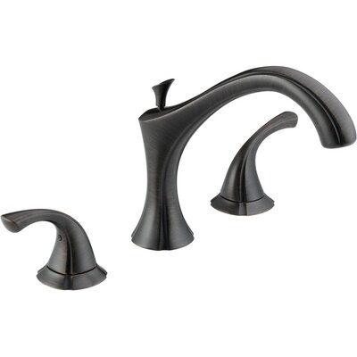 Delta Addison Double Handle Deck Mount Roman Tub Faucet