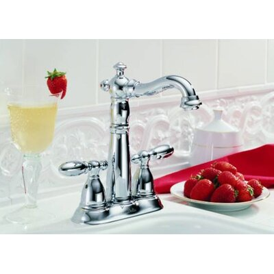 Victorian Double Handle Centerset Bar Faucet with Lever Handles