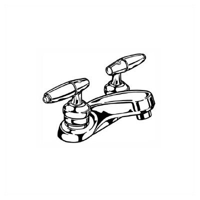 Delta Commercial Centerset Bathroom Faucet with Double Lever Handles