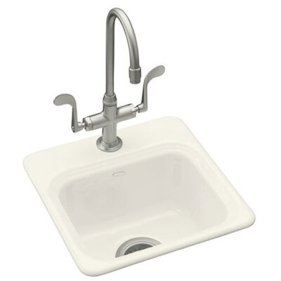 Kohler Northland Self Rimming Entertainment Sink in Biscuit with Single Hole Faucet Drilling