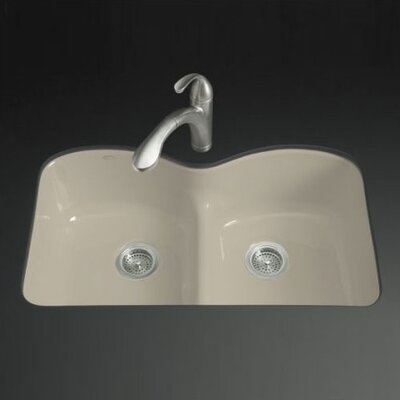 "Kohler Langlade 33"" x 22"" 6 Holes SmartDivide Undermount Kitchen Sink"