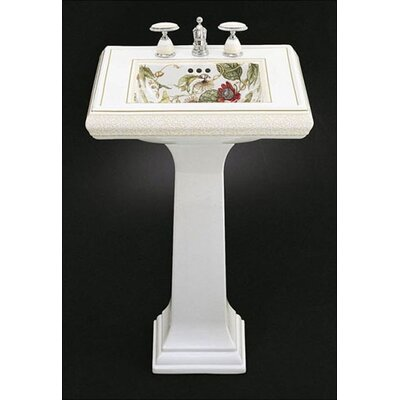 Kohler Crimson Topaz Design on Memoirs Pedestal Bathroom Sink