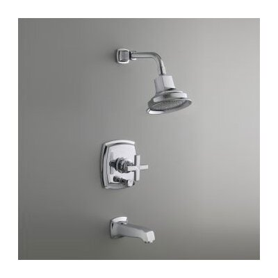 Kohler Margaux Thermostatic Rite-Temp Bath and Shower Faucet Trim with Cross Handle