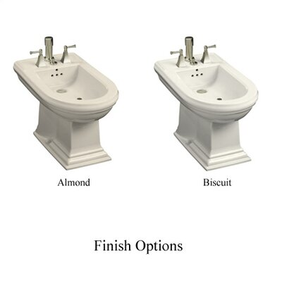 Kohler Memoirs Bidet, Plumbed for Vertical Spray Bidet Faucet